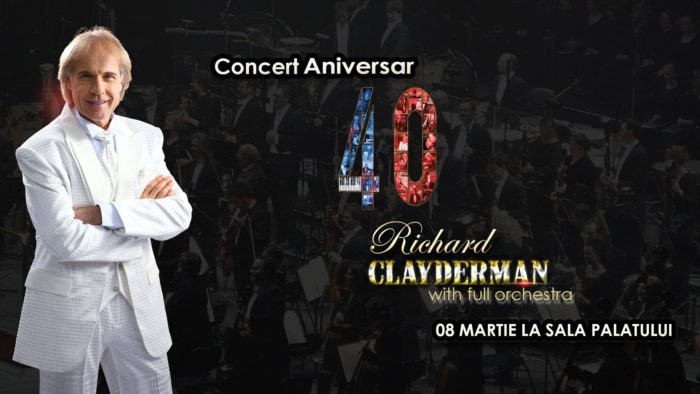 Aniversare 40 de Ani Richard Clayderman + full orchestra