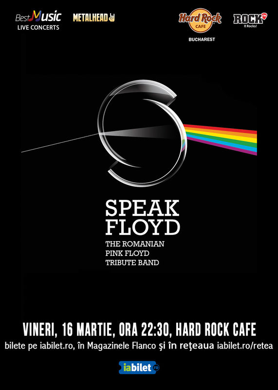 Tribut Pink Floyd cu Speak Floyd, 16 martie, Hard Rock Cafe